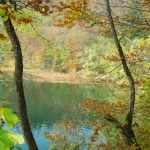 Plitvice lakes in the fall